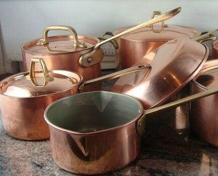 Panelas de cobre
