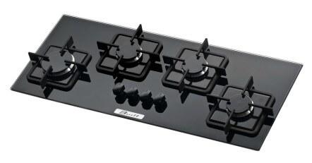 cooktop vidro temperado preto 4 bocas