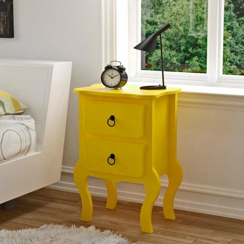 Criado-mudo Amarelo