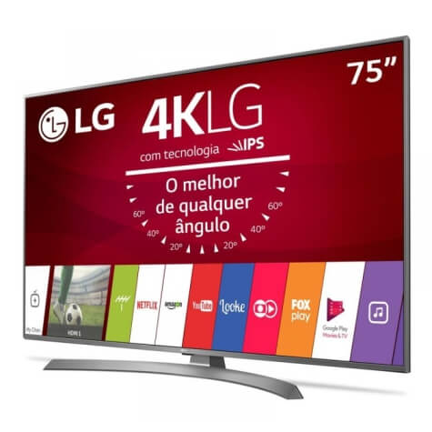 TV LG 75 Polegadas - Ultra HD 4K Slim